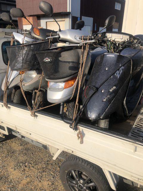 鈴鹿市や四日市市で不用品回収、不用品処分、片付け、不動バイク、スクーターの買取引き取りなら株式会社kousui